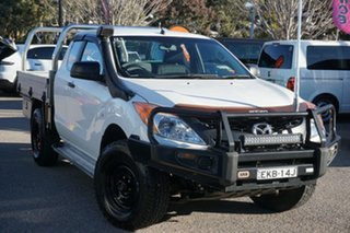 2015 Mazda BT-50 UP0YF1 XT Freestyle White 6 Speed Sports Automatic Cab Chassis.