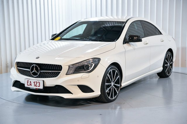 Used Mercedes-Benz CLA-Class C117 CLA200 DCT Hendra, 2014 Mercedes-Benz CLA-Class C117 CLA200 DCT White 7 Speed Sports Automatic Dual Clutch Coupe