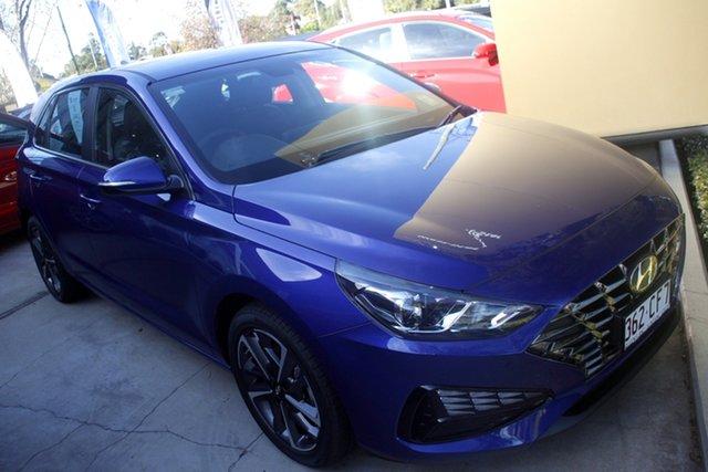 Demo Hyundai i30 PD.V4 MY21 Active Toowoomba, 2020 Hyundai i30 PD.V4 MY21 Active Intense Blue 6 Speed Sports Automatic Hatchback