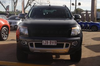 2014 Ford Ranger PX Wildtrak Double Cab Black 6 Speed Sports Automatic Utility.