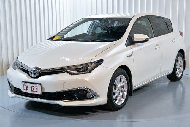 Used Toyota Corolla ZWE186R MY16 Hybrid Hendra, 2016 Toyota Corolla ZWE186R MY16 Hybrid White Continuous Variable Hatchback