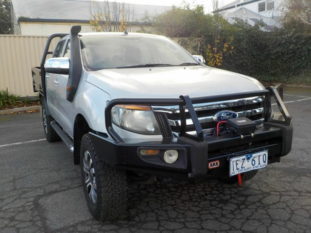 Used Ford Ranger PX XL 3.2 (4x4) Newtown, 2012 Ford Ranger PX XL 3.2 (4x4) Silver 6 Speed Manual Dual Cab Chassis