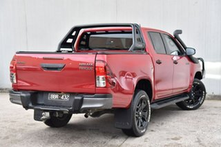 2018 Toyota Hilux GUN126R Rogue Double Cab Red 6 Speed Sports Automatic Utility.