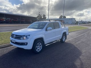 2013 Volkswagen Amarok 2H MY13 TDI420 Ultimate (4x4) White 8 Speed Automatic Dual Cab Utility.