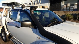 2013 Mitsubishi Triton MN MY12 GLX (4x4) White 4 Speed Automatic 4x4 Double Cab Utility