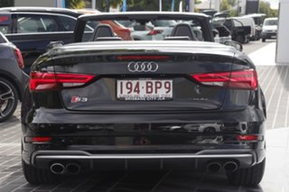 2016 Audi S3 8V MY17 S Tronic Quattro Black 7 Speed Sports Automatic Dual Clutch Cabriolet