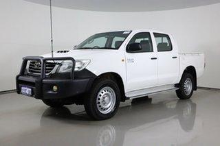 2015 Toyota Hilux KUN26R MY14 SR (4x4) White 5 Speed Automatic Dual Cab Pick-up.
