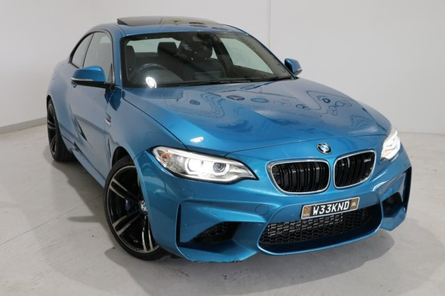 Used BMW M2 F87 D-CT Wagga Wagga, 2016 BMW M2 F87 D-CT Blue 7 Speed Sports Automatic Dual Clutch Coupe