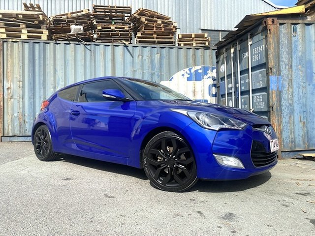 Used Hyundai Veloster FS2 Coupe D-CT Slacks Creek, 2012 Hyundai Veloster FS2 Coupe D-CT Blue 6 Speed Sports Automatic Dual Clutch Hatchback