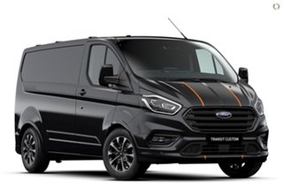 2020 Ford Transit Custom VN 2021.25MY 320S (Low Roof) Sport Black 6 Speed Automatic Van.