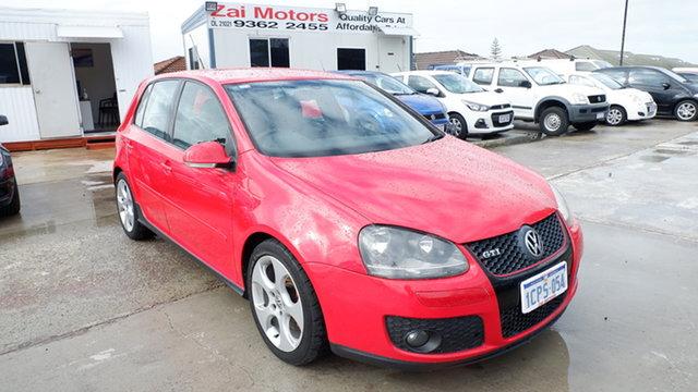 Used Volkswagen Golf V MY07 GTI DSG St James, 2007 Volkswagen Golf V MY07 GTI DSG Red 6 Speed Sports Automatic Dual Clutch Hatchback