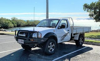 2004 Nissan Navara D22 DX White 5 Speed Manual Cab Chassis.