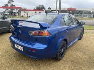 2013 Mitsubishi Lancer Blue Sedan.