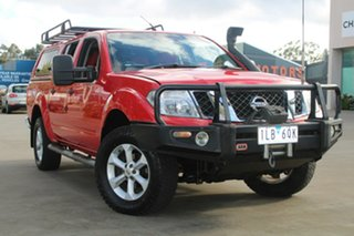 2010 Nissan Navara D40 Series 4 ST-X (4x4) Red 5 Speed Automatic Dual Cab Pick-up.