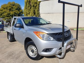 2013 Mazda BT-50 UP0YD1 XT 4x2 Highlight Silver 6 Speed Manual Cab Chassis.