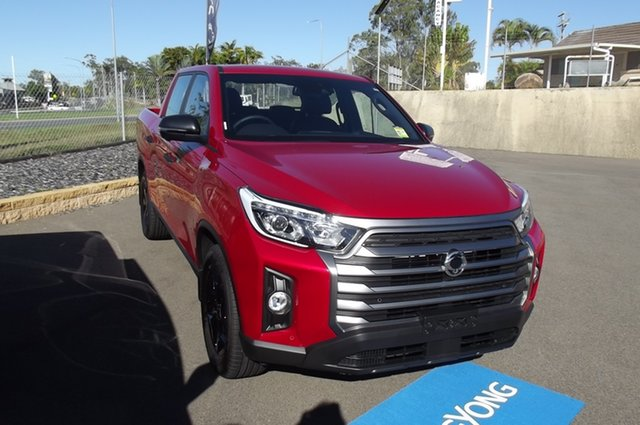 New Ssangyong Musso MY21 Ultimate Crew Cab South Gladstone, 2021 Ssangyong Musso MY21 Ultimate Crew Cab Red 6 Speed Automatic Utility