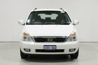 2011 Kia Grand Carnival VQ MY11 SI White 6 Speed Automatic Wagon.
