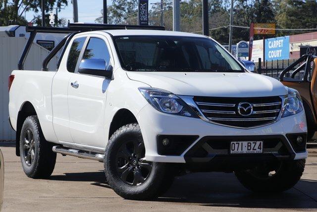 Used Mazda BT-50 UR0YG1 XTR Freestyle Bundamba, 2018 Mazda BT-50 UR0YG1 XTR Freestyle Cool White 6 Speed Sports Automatic Utility