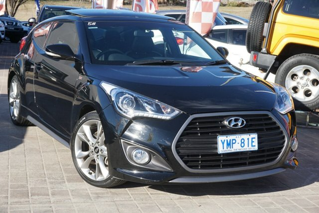 Used Hyundai Veloster FS5 Series II SR Coupe D-CT Turbo Phillip, 2016 Hyundai Veloster FS5 Series II SR Coupe D-CT Turbo Phantom Black 7 Speed
