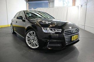 2018 Audi A4 B9 8W MY18 S Line S Tronic Black 7 Speed Sports Automatic Dual Clutch Sedan.