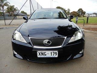 2007 Lexus IS GSE20R IS250 Sports Luxury Dark Blue 6 Speed Sports Automatic Sedan.