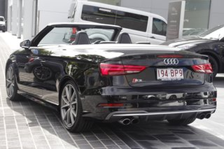 2016 Audi S3 8V MY17 S Tronic Quattro Black 7 Speed Sports Automatic Dual Clutch Cabriolet.