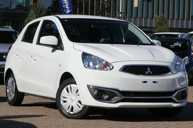 Used Mitsubishi Mirage LA MY20 ES Rosebery, 2019 Mitsubishi Mirage LA MY20 ES White Continuous Variable Hatchback