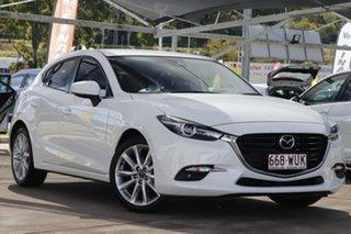 2016 Mazda 3 BN5438 SP25 SKYACTIV-Drive GT Snowflake White 6 Speed Sports Automatic Hatchback.