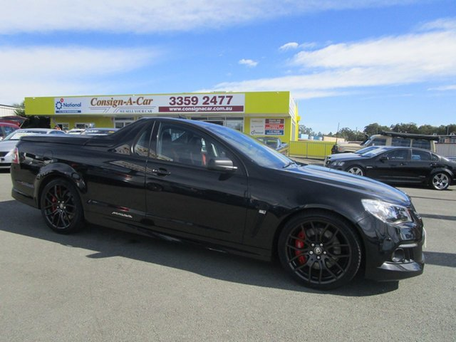 Used Holden Special Vehicles Maloo Gen-F MY14 R8 Kedron, 2013 Holden Special Vehicles Maloo Gen-F MY14 R8 Black 6 Speed Manual Utility
