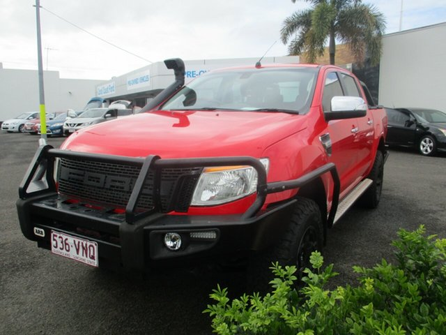 Used Ford Ranger PX XLT 3.2 (4x4) Bundaberg, 2015 Ford Ranger PX XLT 3.2 (4x4) Red 6 Speed Manual Double Cab Pick Up