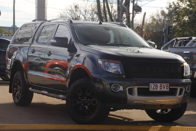 Used Ford Ranger PX Wildtrak Double Cab Toowoomba, 2014 Ford Ranger PX Wildtrak Double Cab Black 6 Speed Sports Automatic Utility
