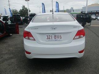 2017 Hyundai Accent RB6 MY18 Sport White 6 Speed Automatic Sedan.