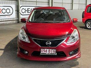 2013 Nissan Pulsar C12 SSS Red 1 Speed Constant Variable Hatchback.