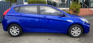 2013 Hyundai Accent RB Active Blue 4 Speed Sports Automatic Hatchback.