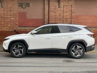 2021 Hyundai Tucson NX4.V1 MY22 Highlander D-CT AWD White Cream 7 Speed Automatic Wagon
