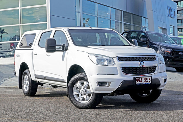 Used Holden Colorado RG MY14 LT Crew Cab Springwood, 2014 Holden Colorado RG MY14 LT Crew Cab White 6 Speed Sports Automatic Utility