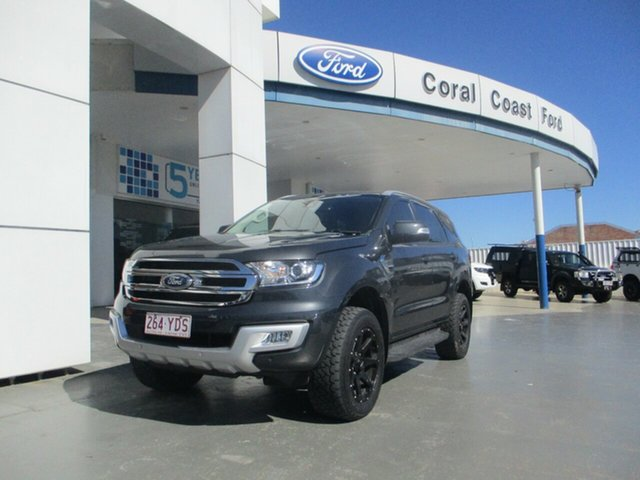 Used Ford Everest UA II MY19 Trend (4WD 7 Seat) Bundaberg, 2018 Ford Everest UA II MY19 Trend (4WD 7 Seat) Grey 6 Speed Automatic SUV
