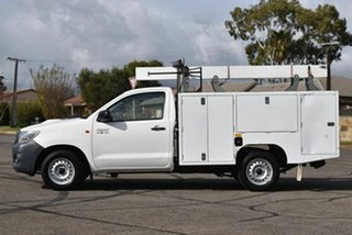 2015 Toyota Hilux KUN16R MY14 Workmate 4x2 White 5 Speed Manual Cab Chassis