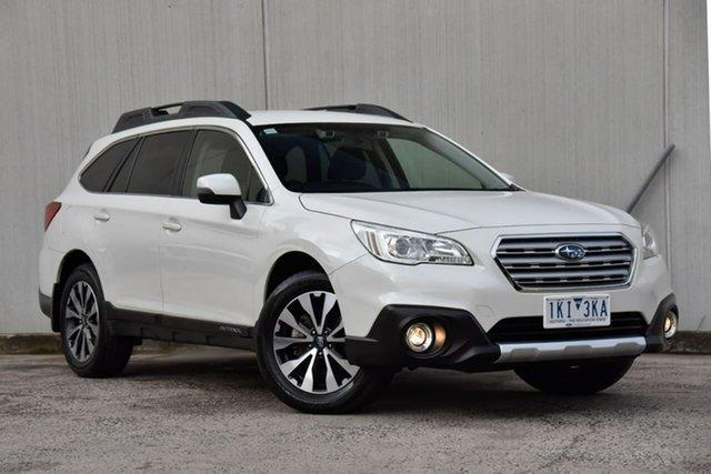 Used Subaru Outback B6A MY17 2.5i CVT AWD Oakleigh, 2017 Subaru Outback B6A MY17 2.5i CVT AWD White 6 Speed Constant Variable Wagon