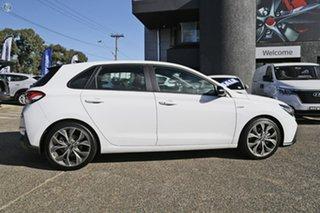 2021 Hyundai i30 PD.V4 MY21 N Line Premium White 6 Speed Manual Hatchback
