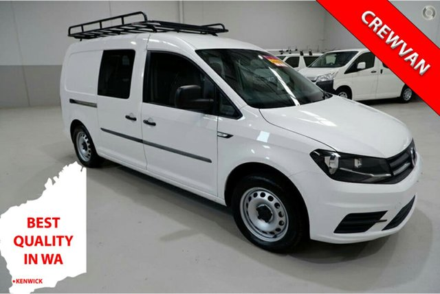 Used Volkswagen Caddy 2KN MY17.5 TSI220 Crewvan Maxi DSG Kenwick, 2017 Volkswagen Caddy 2KN MY17.5 TSI220 Crewvan Maxi DSG White 7 Speed Sports Automatic Dual Clutch