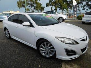 2010 Mazda 6 GH1052 MY10 Luxury White 5 Speed Sports Automatic Sedan.