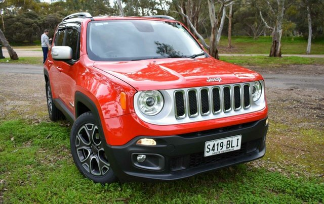 Used Jeep Renegade BU MY15 Limited DDCT Ingle Farm, 2015 Jeep Renegade BU MY15 Limited DDCT Red 6 Speed Sports Automatic Dual Clutch Hatchback
