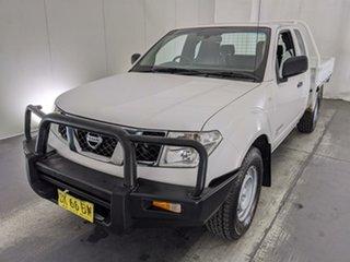 2011 Nissan Navara D40 RX King Cab White 6 Speed Manual Cab Chassis.