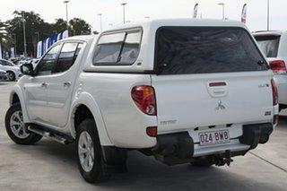 2013 Mitsubishi Triton MN MY14 GLX-R Double Cab White 5 Speed Sports Automatic Utility.