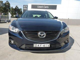 2014 Mazda 6 GJ1031 MY14 Sport SKYACTIV-Drive Blue 6 Speed Sports Automatic Wagon.
