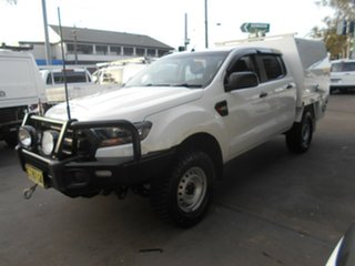 2015 Ford Ranger PX MkII XL 3.2 (4x4) White 6 Speed Manual Crew Cab Chassis.