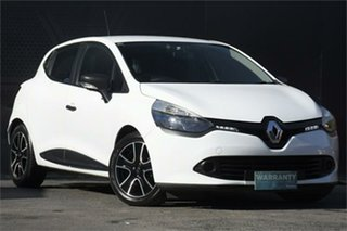 2014 Renault Clio IV B98 Expression White 5 Speed Manual Hatchback.