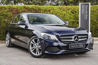 2016 Mercedes-Benz C-Class W205 807MY C200 d 7G-Tronic + Cavansite Blue 7 Speed Sports Automatic.