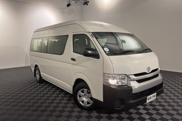 Used Toyota HiAce KDH223R Commuter High Roof Super LWB Acacia Ridge, 2017 Toyota HiAce KDH223R Commuter High Roof Super LWB White 4 speed Automatic Bus